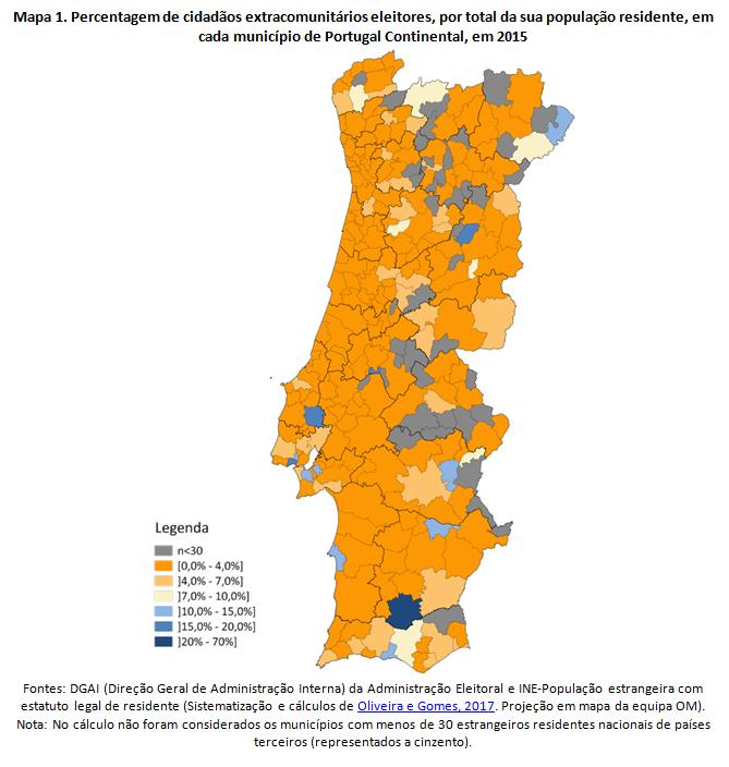 mapa eleitoral portugal Eleitores estrangeiros nos municípios portugueses   DetalheNoticia  mapa eleitoral portugal