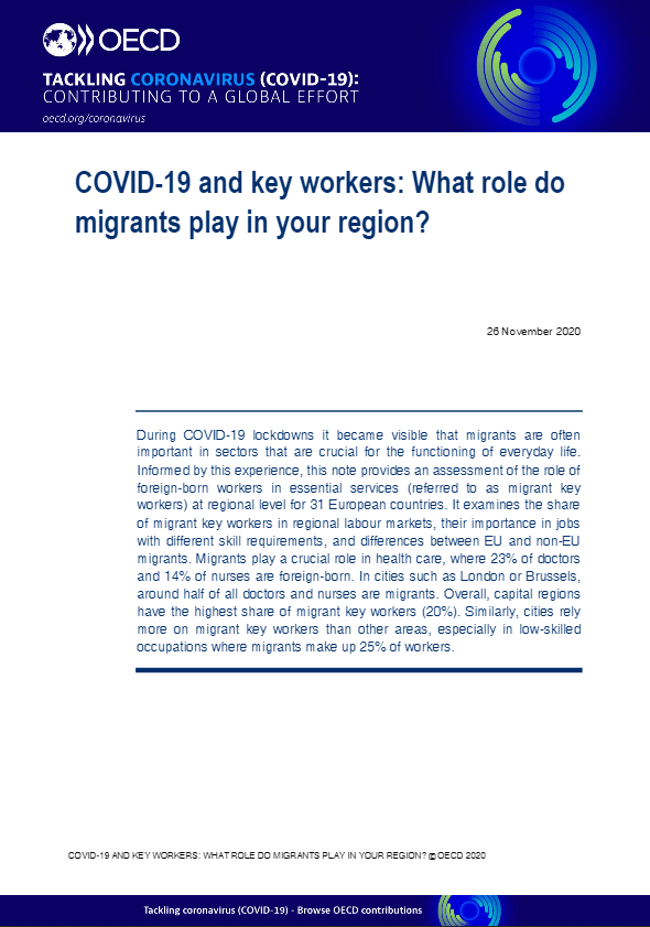 COVID-19 and key workers: What role do migrants play in your region?