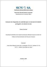 """<h4>""""Inserção dos imigrantes do Leste Europeu no mercado de trabalho português: um estudo de caso""""</h4>"""