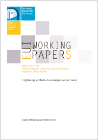 "Working Paper: ""Explaining attitudes to immigration in France"""