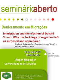 "<h4>Seminário: ""Immigration and the election of Donald Trump: Why the Sociology of migration left us surprised and unprepared""</h4>"