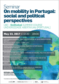 "<h4>Seminário: ""On Mobility in Portugal: Social and Political Perspectives""</h4>"