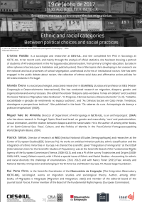 "<h4>Debate: ""Ethnic and Racial Categories: Between Political Choices and Social Practices""</h4>"