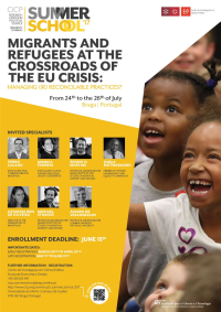 "<h4>Escola de Verão: ""Migrants and Refugees at the Crossroads of the EU Crisis: Managing (Ir)reconcilable Practices?""</h4>"