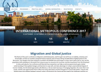 "Conferência Internacional Metropolis 2017: ""Migration and Global Justice"""