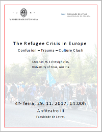 "<h4>Conferência: ""The Refugee Crisis in Europe - Confusion – Trauma – Culture Clash""</h4>"