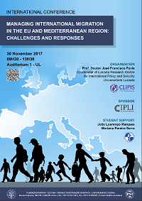 "30-11-2017 - OM na Conferência Internacional: ""Managing International Migration in the EU and Mediterranean Region - Challenges and Responses"""