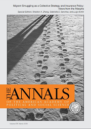 "<h4>The ANNALS: ""Migrant smuggling as a collective strategy and insurance policy: views from the margins""</h4>"