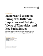 <h4>Estudo: Europeans Differ on Importance of Religion, Views of Minorities, and Key Social Issues</h4>