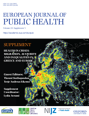 "<h4>European Journal of Public Health: ""Health in Crises: Migration, Austerity and Inequalities in Greece and Europe""</h4>"