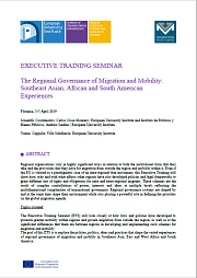 "<h4>Inscrições: ""Executive Training Seminar - The Regional Governance of Migration and Mobility: Southeast Asian, African and South American Experiences""</h4>"