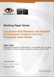 "Working Paper NOVAFRICA: ""Occupation-Skill Mismatch and Selection of Immigrants: Evidence from the Portuguese Labor Market"""