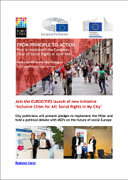 "<h4>Debate EUROCITIES: ""From principle to action: How to implement the European Pillar of Social Rights at local level""</h4>"