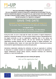 "<h4>Save the date: ""Migrant Entrepreneurship Support in Practice""</h4>"